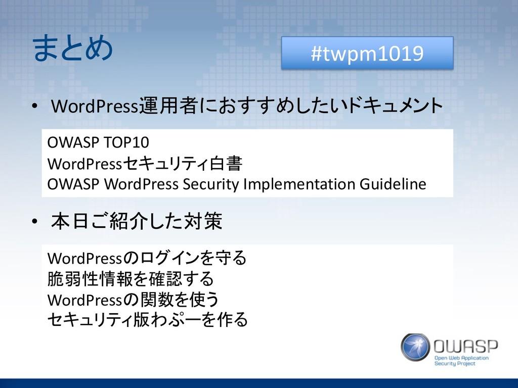 $ % • WordPress!%0+215/ OWASP TOP10 Wo...