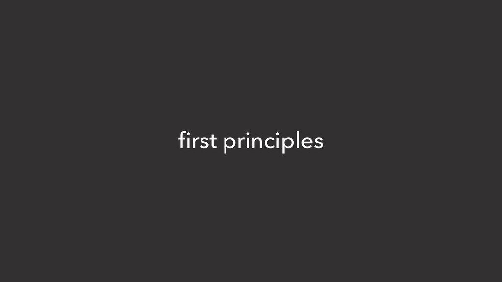 first principles