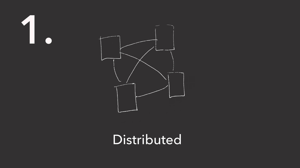 1. Distributed