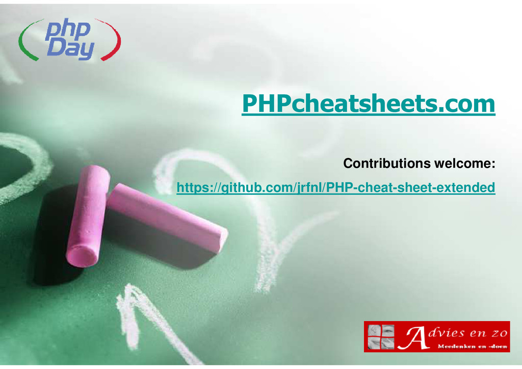 PHPcheatsheets.com Contributions welcome: https...