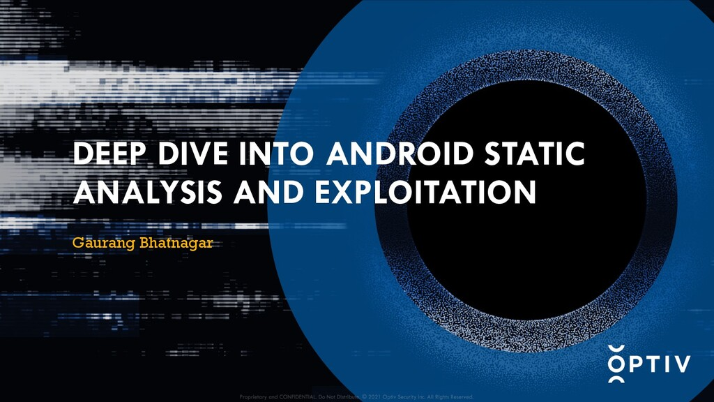 DEEP DIVE INTO ANDROID STATIC ANALYSIS AND EXPL...