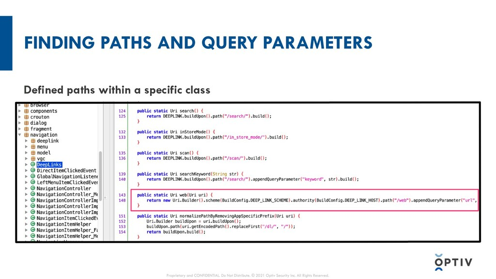 FINDING PATHS AND QUERY PARAMETERS Defined path...