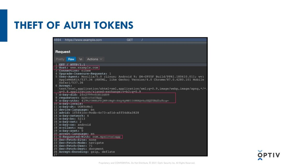 THEFT OF AUTH TOKENS