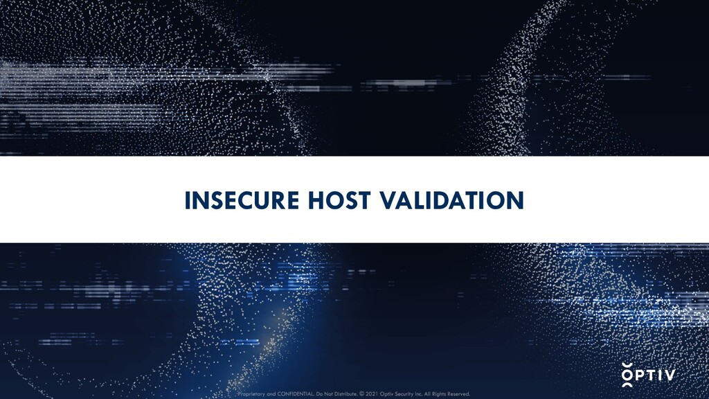 INSECURE HOST VALIDATION