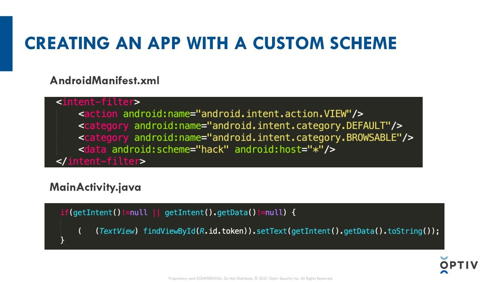 CREATING AN APP WITH A CUSTOM SCHEME AndroidMan...