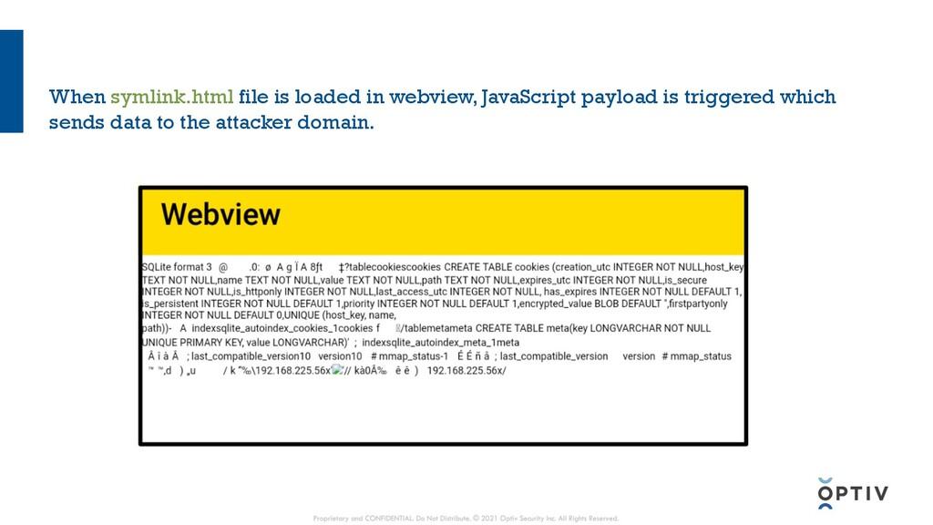 When symlink.html file is loaded in webview, Ja...