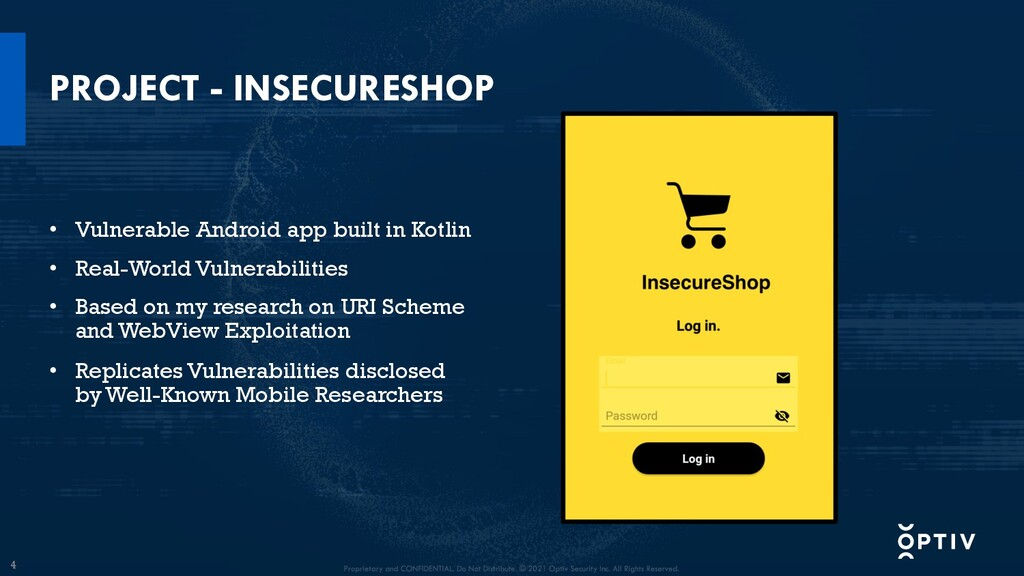 4 PROJECT - INSECURESHOP • Vulnerable Android a...
