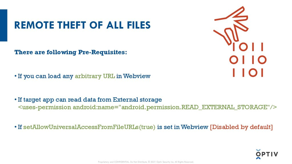 REMOTE THEFT OF ALL FILES There are following P...