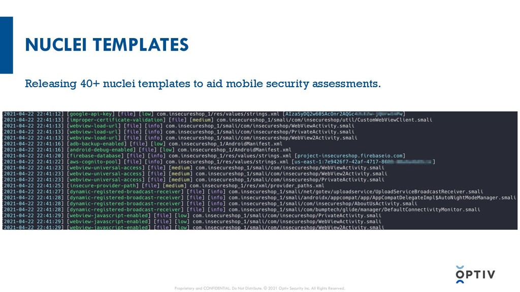 NUCLEI TEMPLATES Releasing 40+ nuclei templates...
