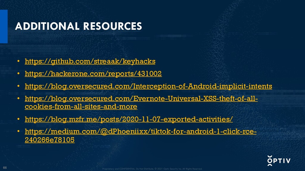 66 ADDITIONAL RESOURCES • https://github.com/st...
