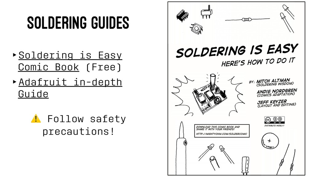 SOLDERING GUIDES ‣Soldering is Easy Comic Book ...