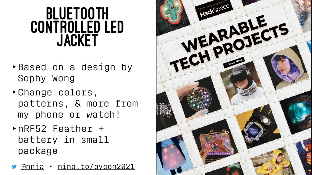 BLUETOOTH CONTROLLED LED JACKET ‣Based on a des...