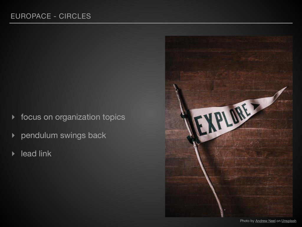 EUROPACE - CIRCLES ▸ focus on organization topi...