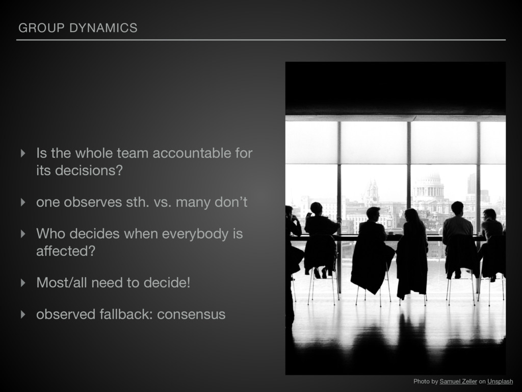 GROUP DYNAMICS ▸ Is the whole team accountable ...