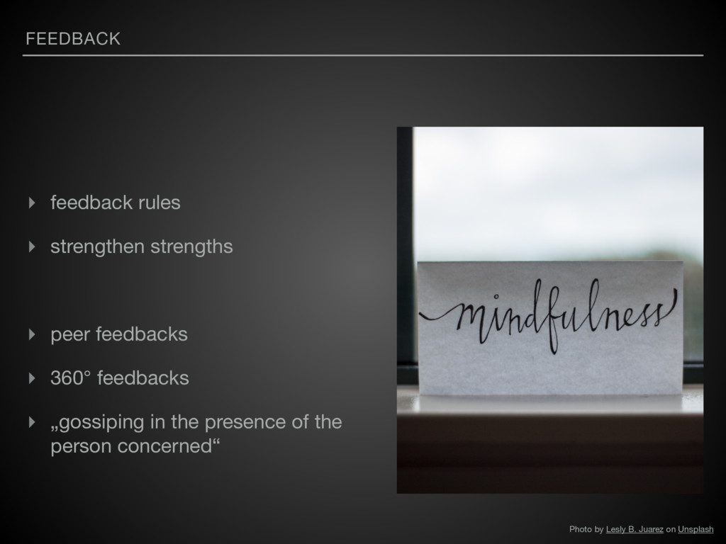 FEEDBACK ▸ feedback rules  ▸ strengthen strengt...