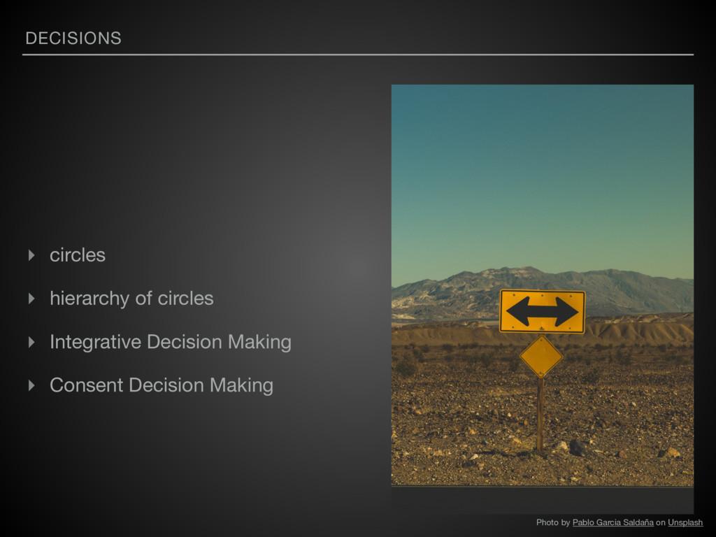 DECISIONS ▸ circles  ▸ hierarchy of circles  ▸ ...