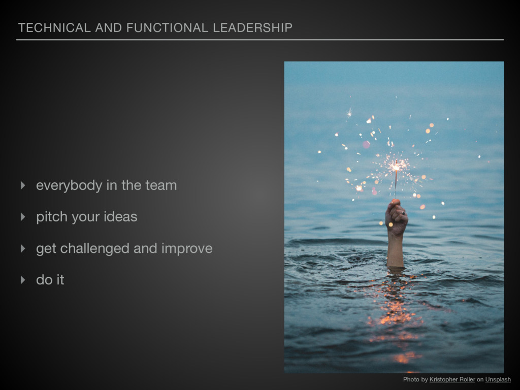 TECHNICAL AND FUNCTIONAL LEADERSHIP ▸ everybody...