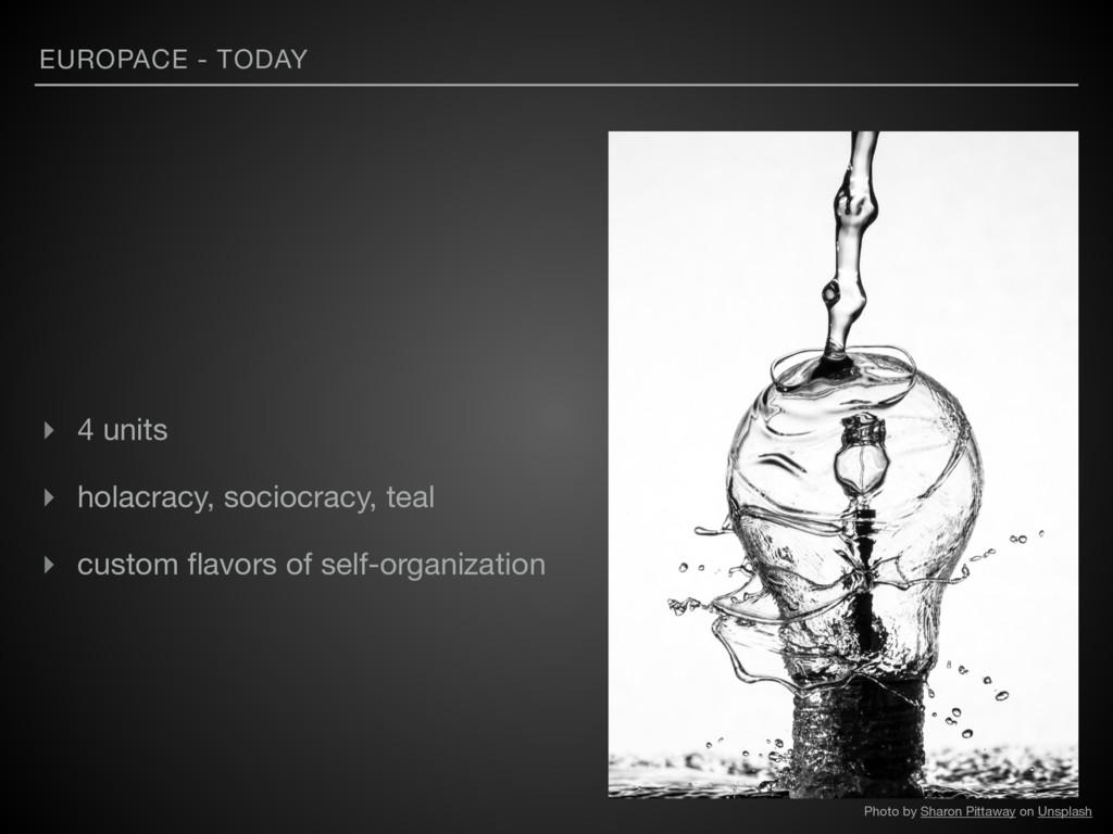 EUROPACE - TODAY ▸ 4 units  ▸ holacracy, socioc...