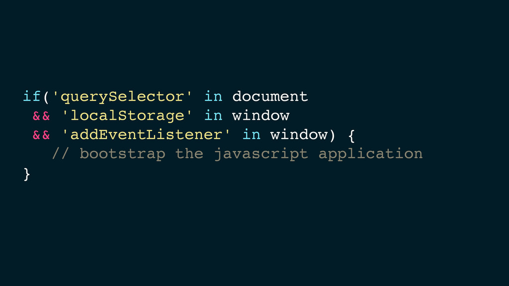 if('querySelector' in document! !&& 'localStora...
