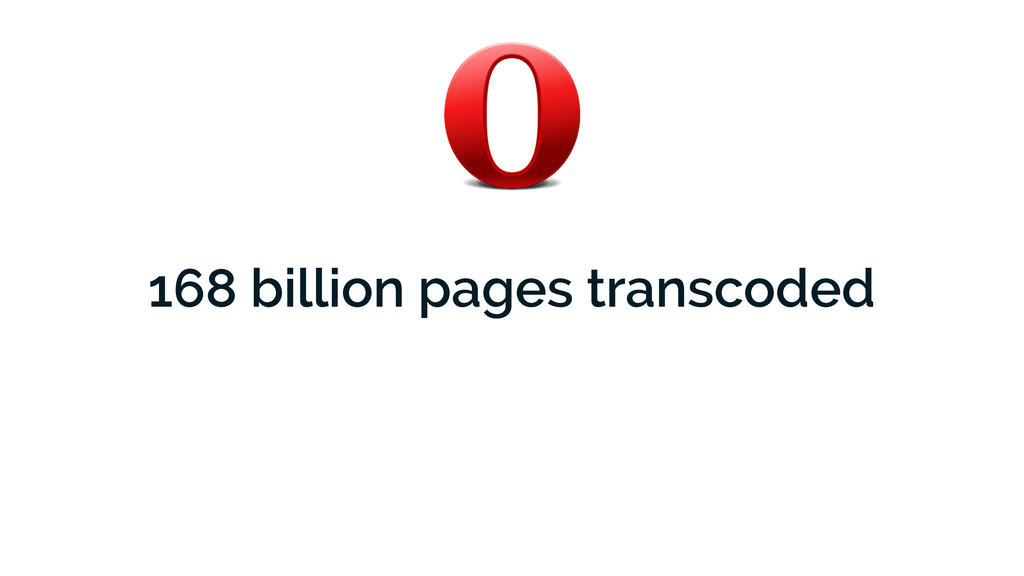 168 billion pages transcoded