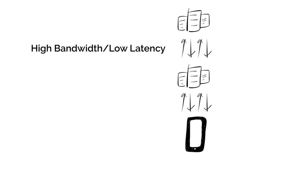 High Bandwidth/Low Latency