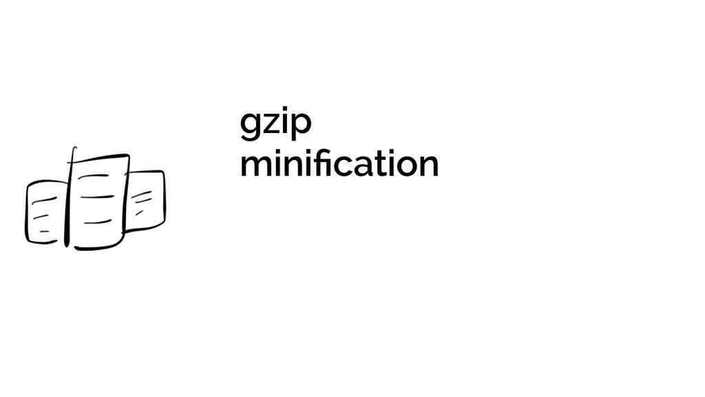 gzip minification !