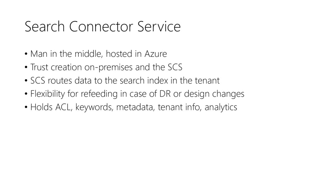 Search Connector Service • Man in the middle, h...
