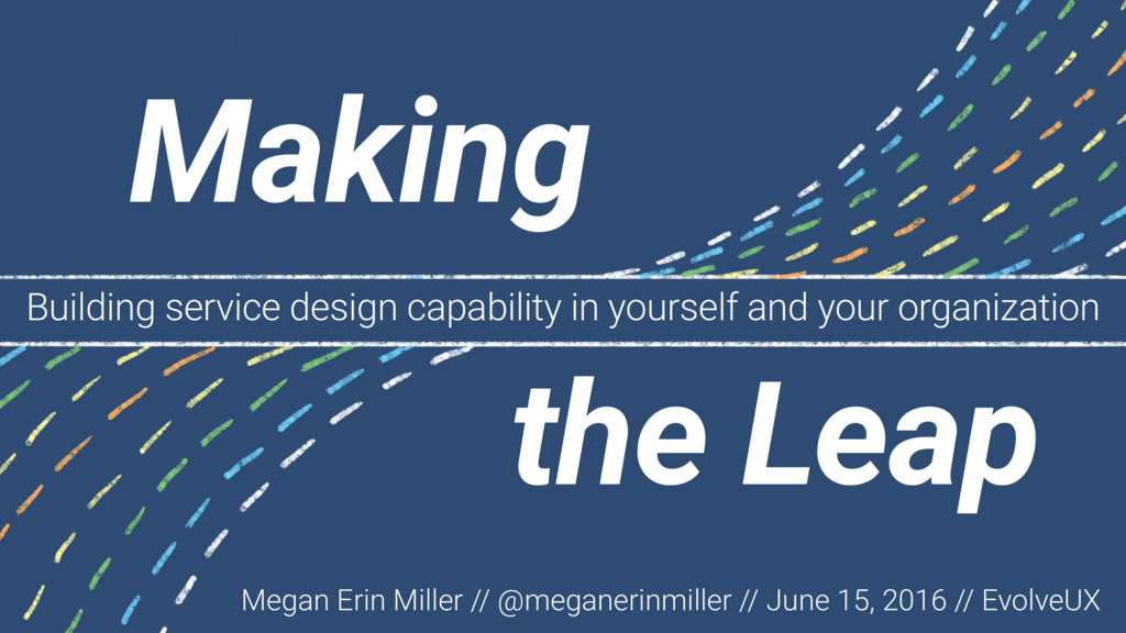 Building service design capability in yourself ...