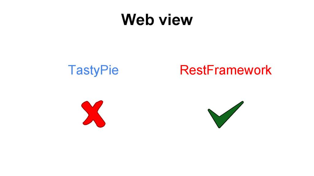 Web view TastyPie RestFramework