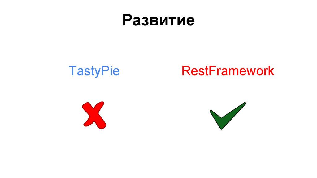 Развитие TastyPie RestFramework