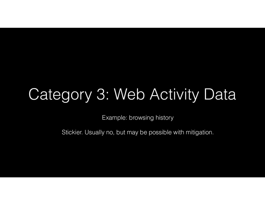 Category 3: Web Activity Data Example: browsing...
