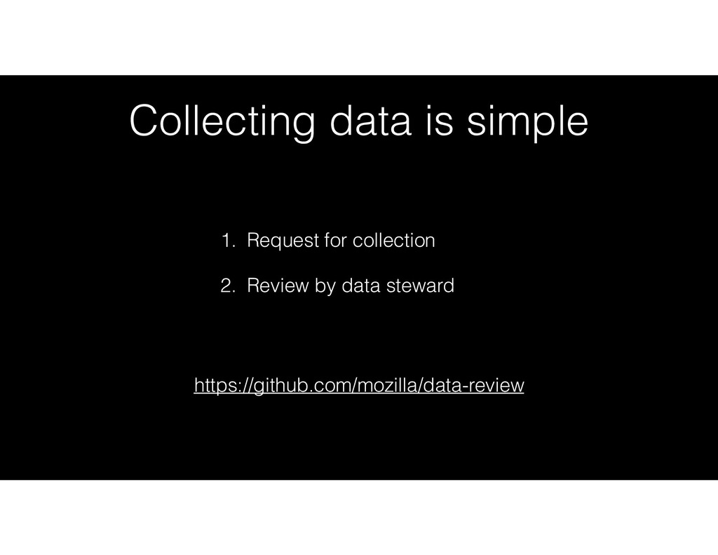 Collecting data is simple 1. Request for collec...