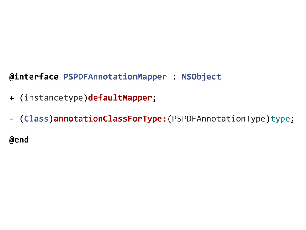 @interface PSPDFAnnotationMapper : NSO...