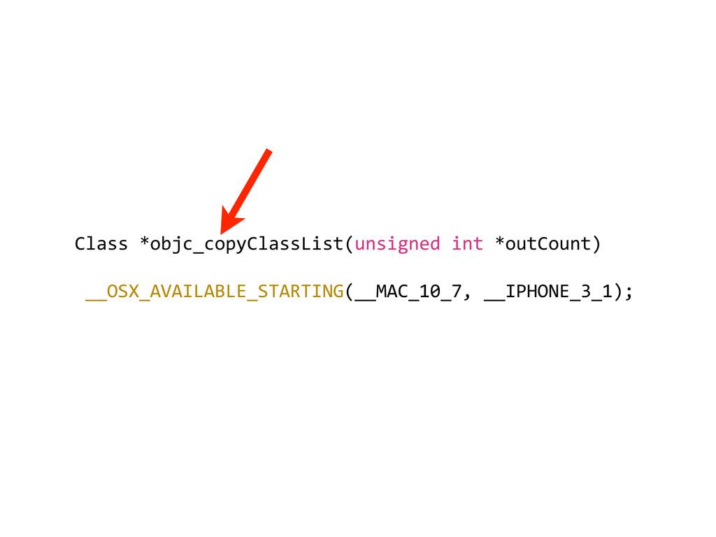 Class *objc_copyClassList(unsigned int ...