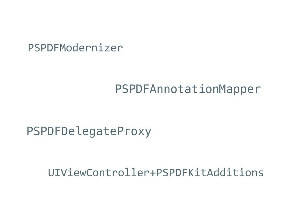 PSPDFModernizer PSPDFAnnotationMapper PSPDFDele...