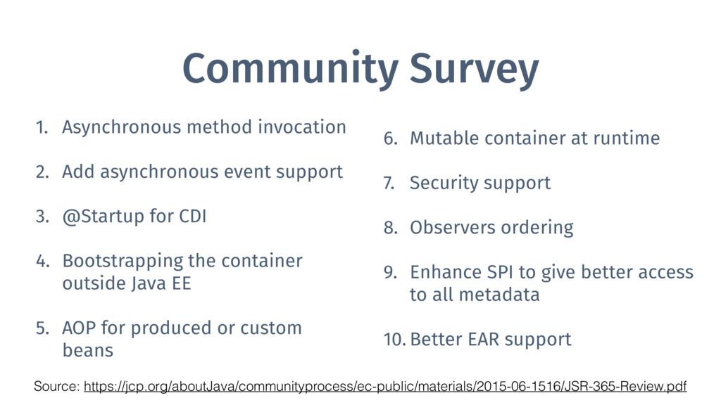 Community Survey 1. Asynchronous method invocat...