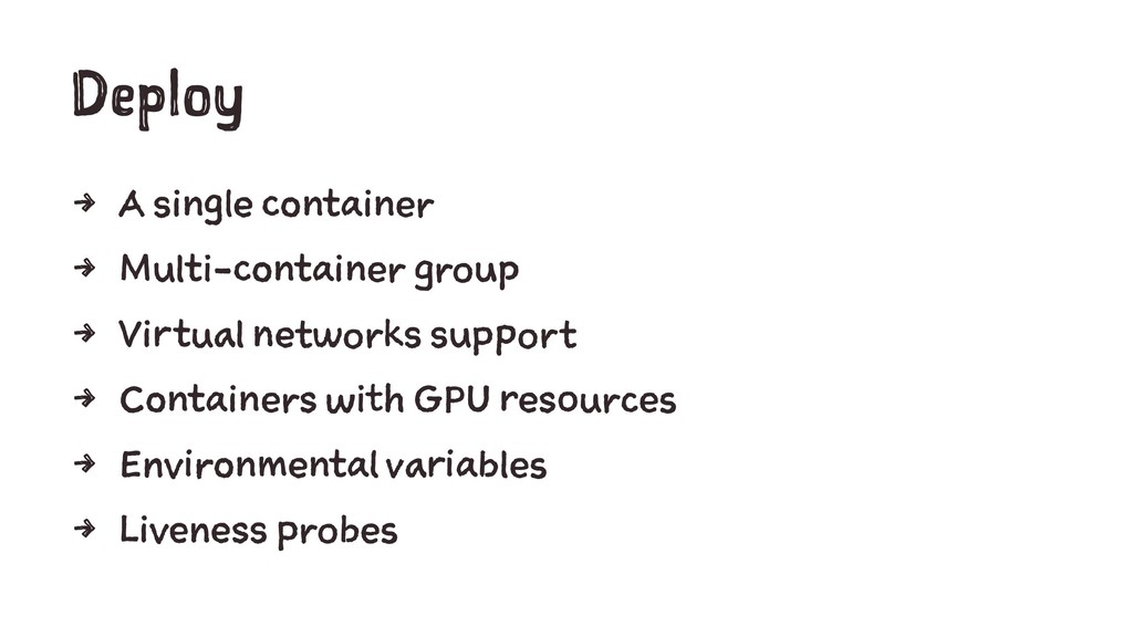 Deploy 4 A single container 4 Multi-container g...