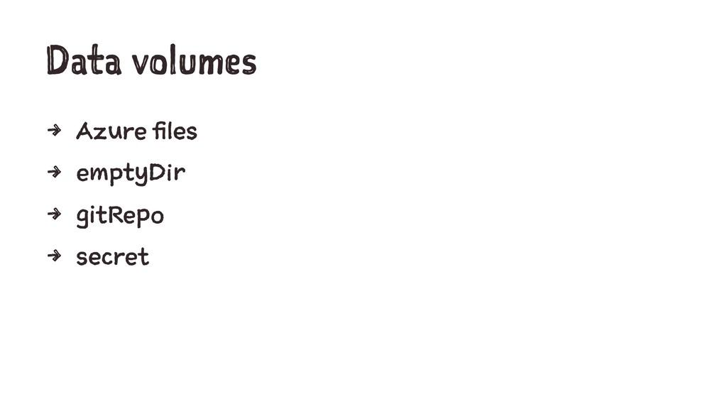 Data volumes 4 Azure files 4 emptyDir 4 gitRepo...