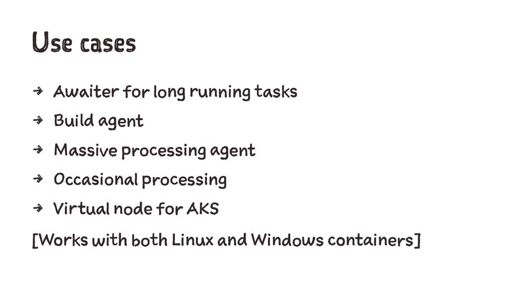 Use cases 4 Awaiter for long running tasks 4 Bu...