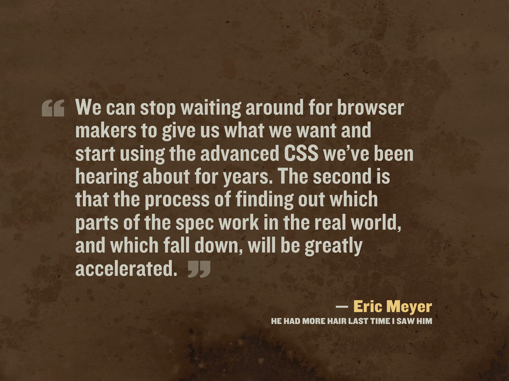 We can stop waiting around for browser makers t...