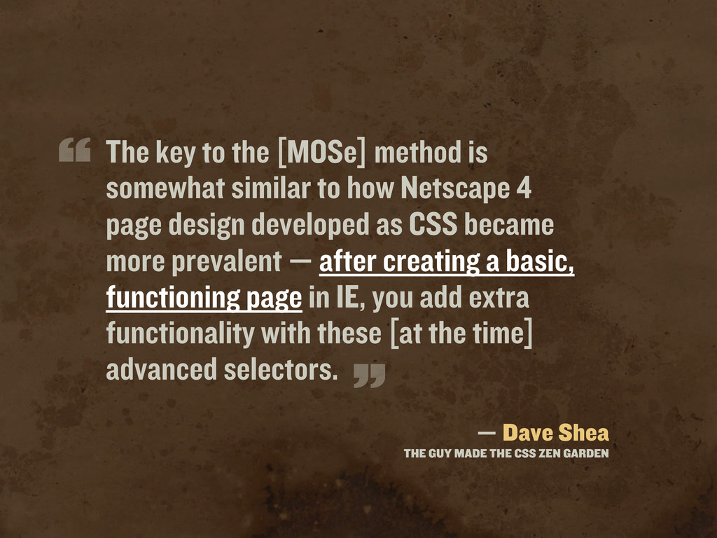The key to the [MOSe] method is somewhat simila...