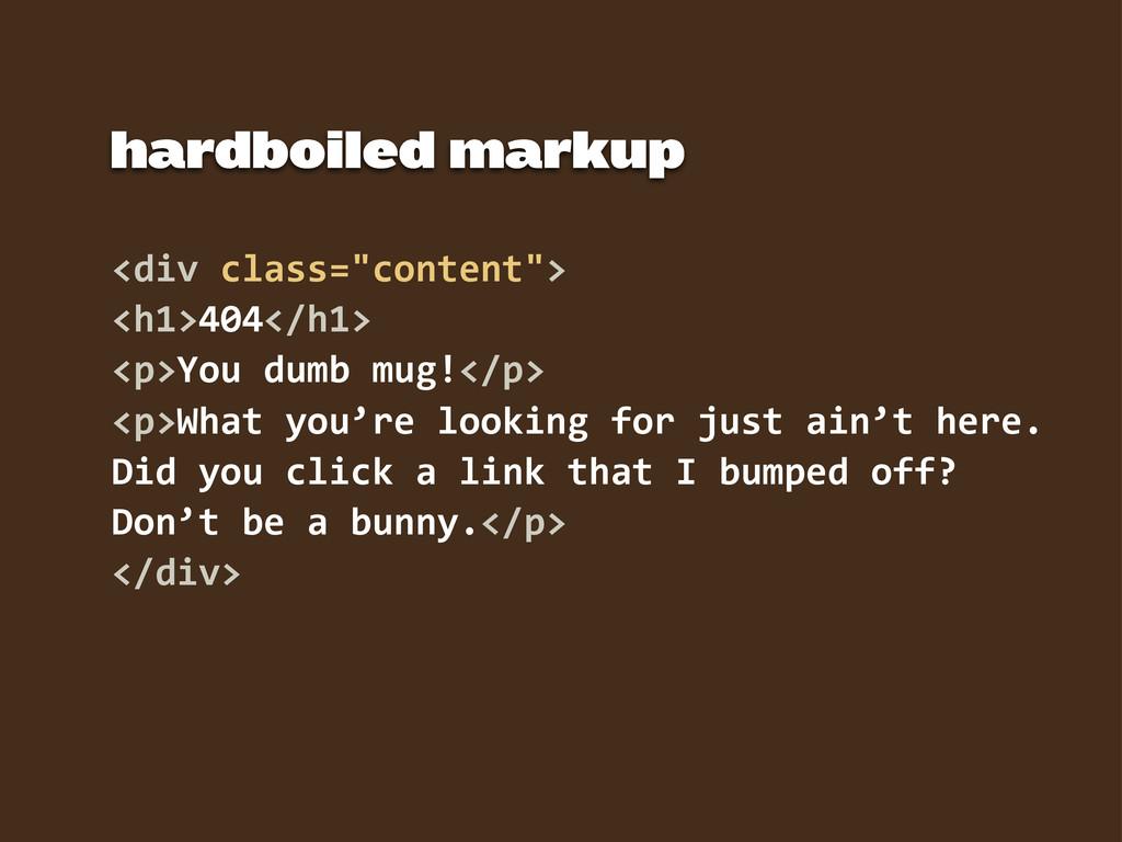 "<div class=""content""> <h1>404</h1> <p>You dum..."