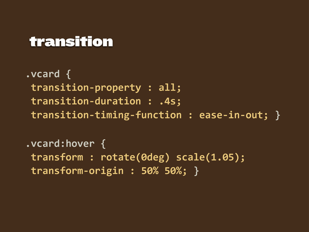 .vcard  {   transition-­‐property  :  all;   tr...
