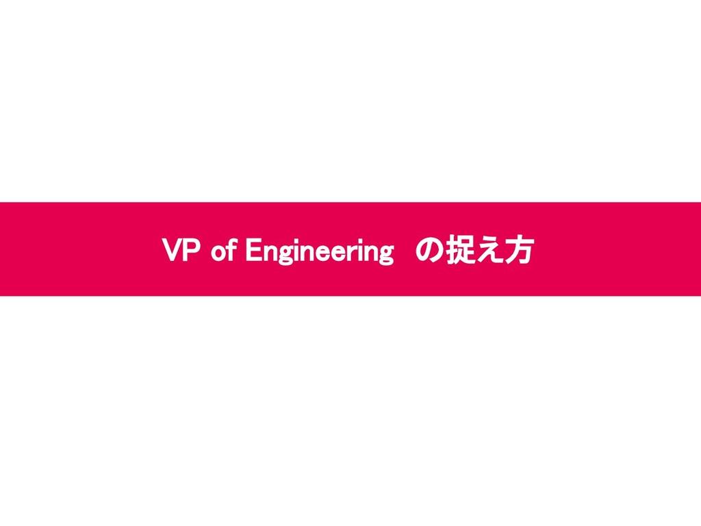 VP of Engineering の捉え方