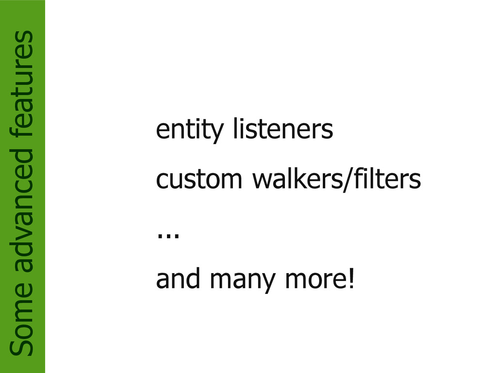 Some advanced features entity listeners custom ...