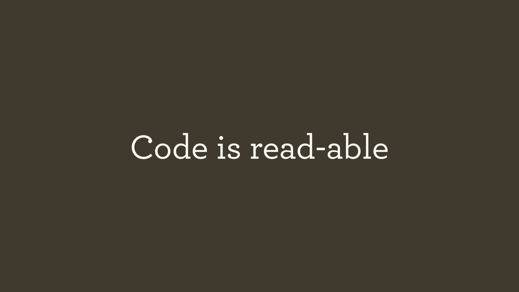 Code is read-able