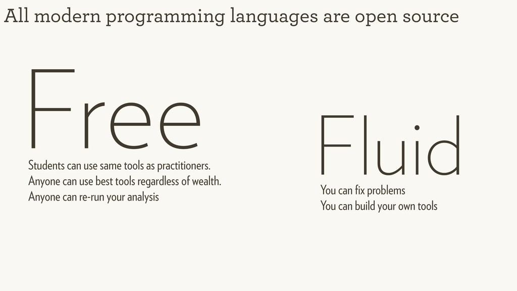 All modern programming languages are open sourc...