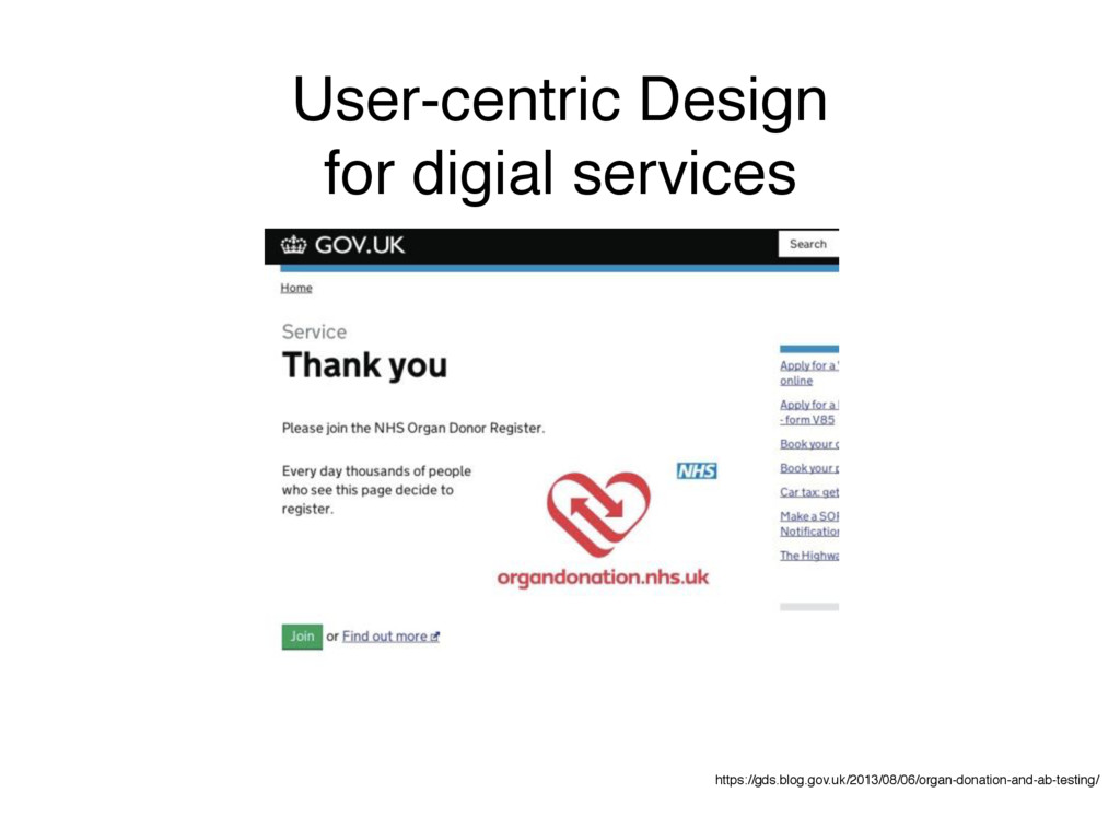 User-centric Design for digial services https:/...