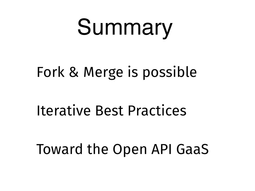 Summary Iterative Best Practices Fork & Merge i...
