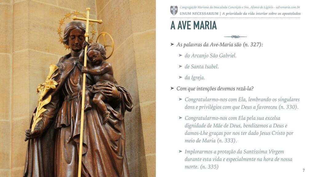 A AVE MARIA ➤ As palavras da Ave-Maria são (n. ...